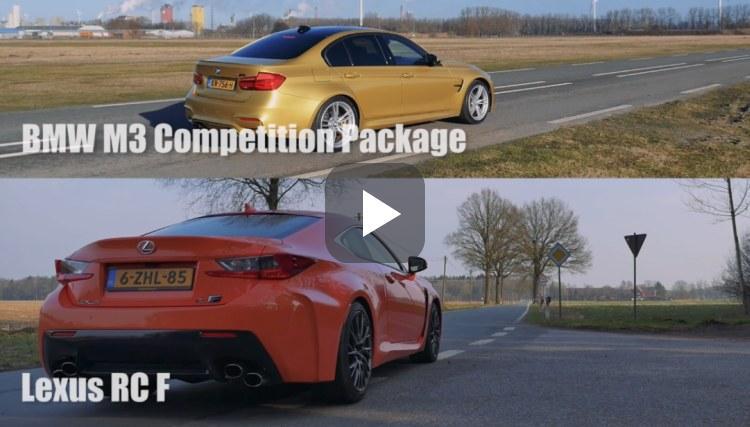 BMW M3 en Lexus RC F