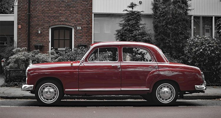 Mercedes 190D gespot