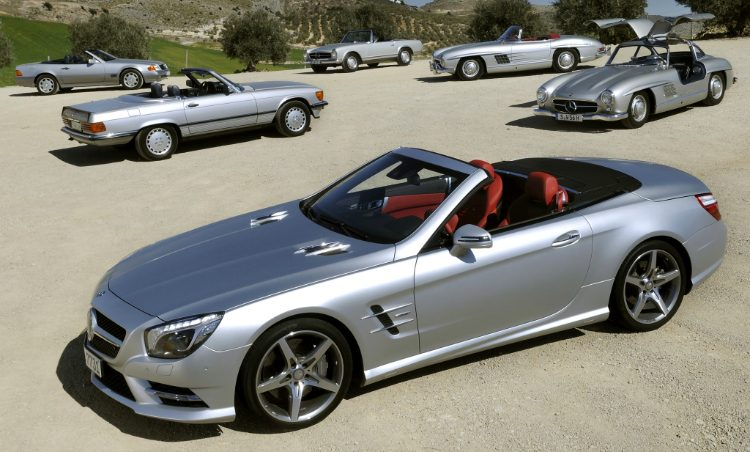 Mercedes-Benz SL evolutie