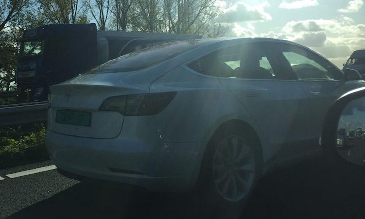 proefrit tesla model 3