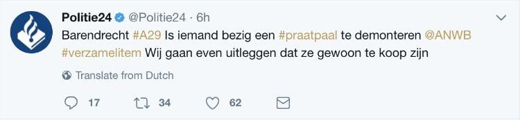 Twitter bericht politie24