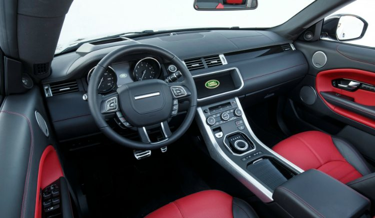 Lease maar jaguar f type of range rover evoque for Interieur range rover evoque