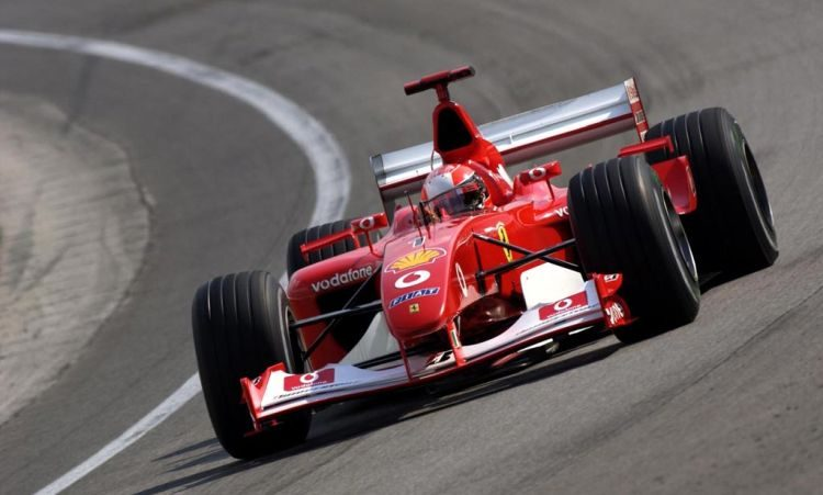 Afperser van Michael Schumacher draait de bak in