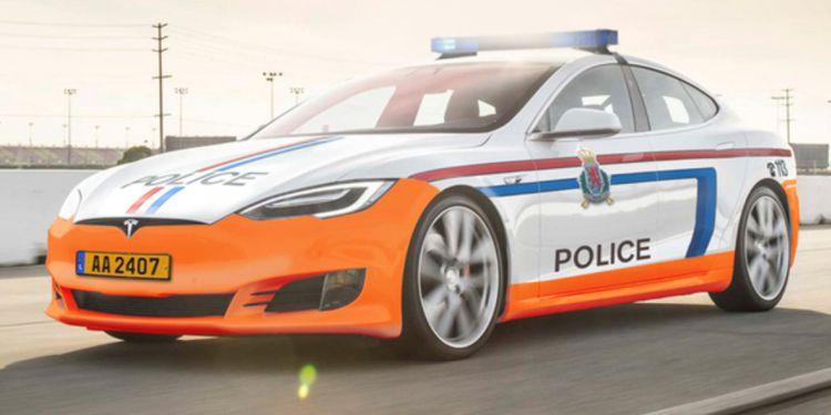 Politie Luxemburg gaat aan de Tesla Model S!