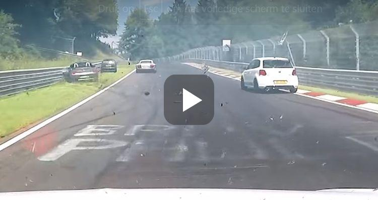Video: chaos op de 'Ring door oliespoor