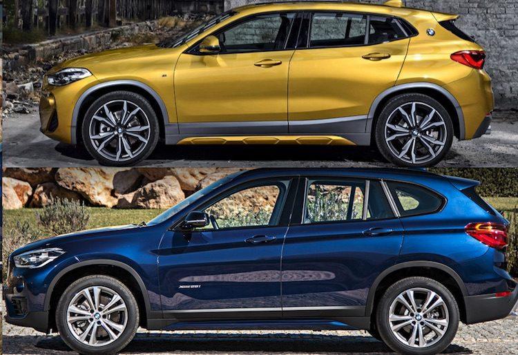 Dit zijn de verschillen tussen de BMW X1 en X2