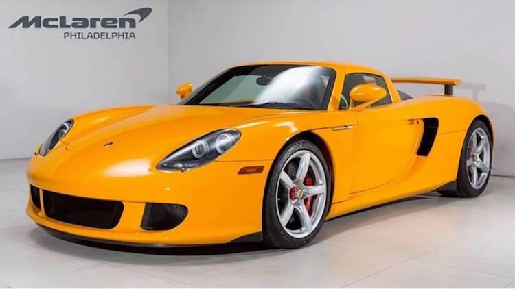 Unieke gele Porsche Carrera GT kost meer dan een miljoen
