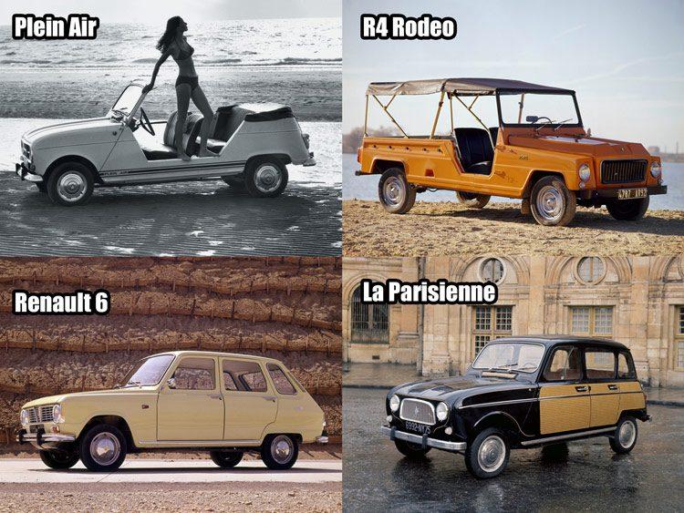 Renault 4 varianten