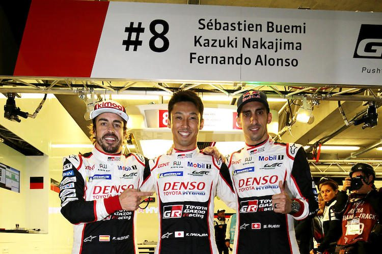 Nakajima, Alonso, Buemi grijpen Le Mans pole, beste NL