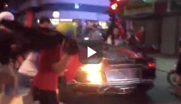 Video: Lamborghini Aventador met barbecue-ambities