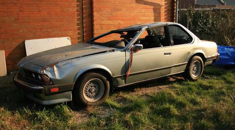 Geruïneerde BMW 633 CSi is (gelukkig) roestvrij