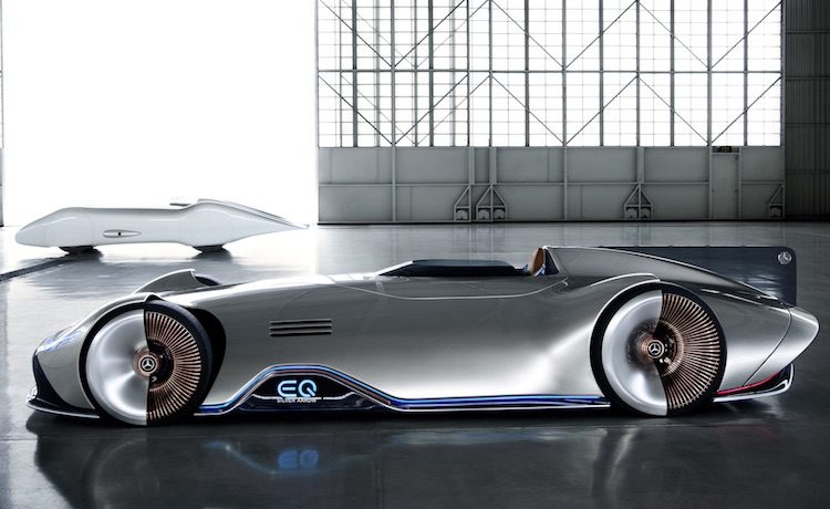 Hier, de Mercedes EQ Silver Arrow met 750 pk