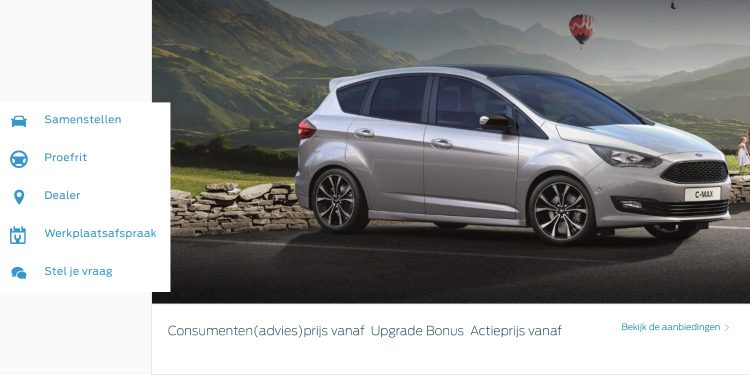 Ford C-Max website '18