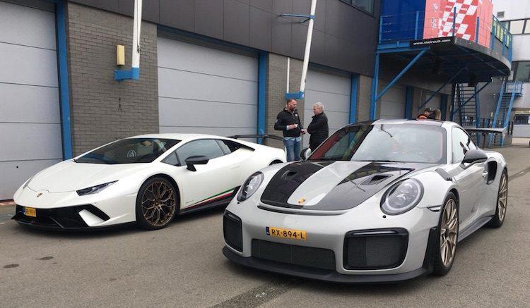 Nederlandse Huracán Performante en GT2 RS op Assen