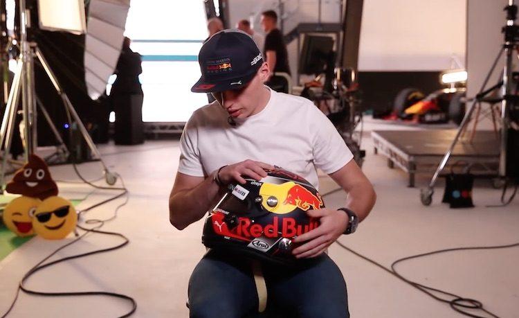 Dit is de nieuwe helm van Max Verstappen