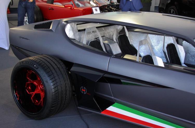 Gespot: dit was ooit een schitterende Lamborghini