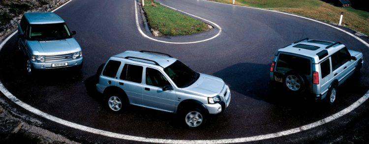 Land Rover modellen 2001