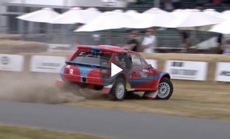 Oorporno: Peugeot 205 met wankelmotor zet Goodwood op stelten