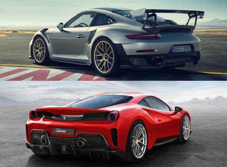 Vergelijking: Porsche 911 GT2 RS vs. Ferrari 488 Pista