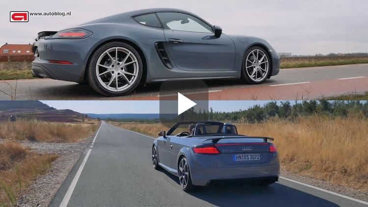 Video: Porsche 718 Cayman vs Audi TT RS Roadster