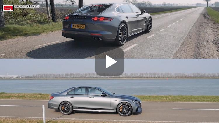 Merc-AMG E63 S eet Panamera Turbo Executive rauw