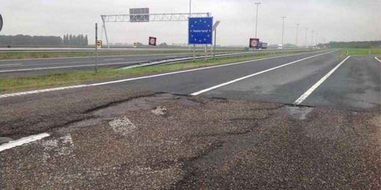 Zo herstelt een Nederlander de Belgische wegen eigenhandig