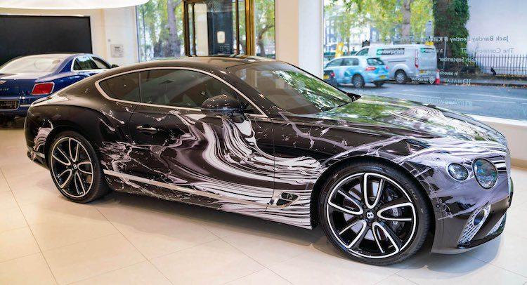 Nee, deze Bentley Continental GT heeft geen schade