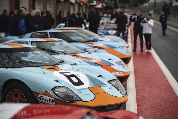 Meer dan 70 Ford GT's kwamen samen op Spa