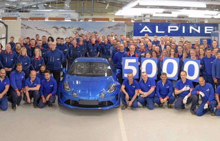 Alpine bereikt nieuwe mijlpaal met waanzinnige A110