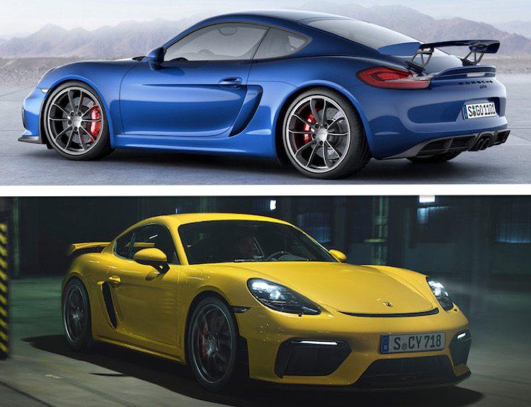 Vergelijking: de nieuwe Porsche Cayman GT4 vs. de oude