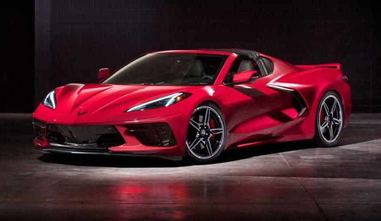 Corvette C8 rood