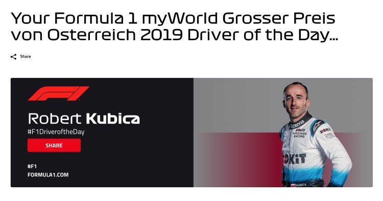 Driver of the Day Austria 2019