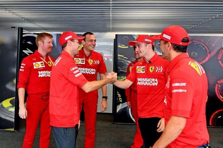 Vettel en Leclerc