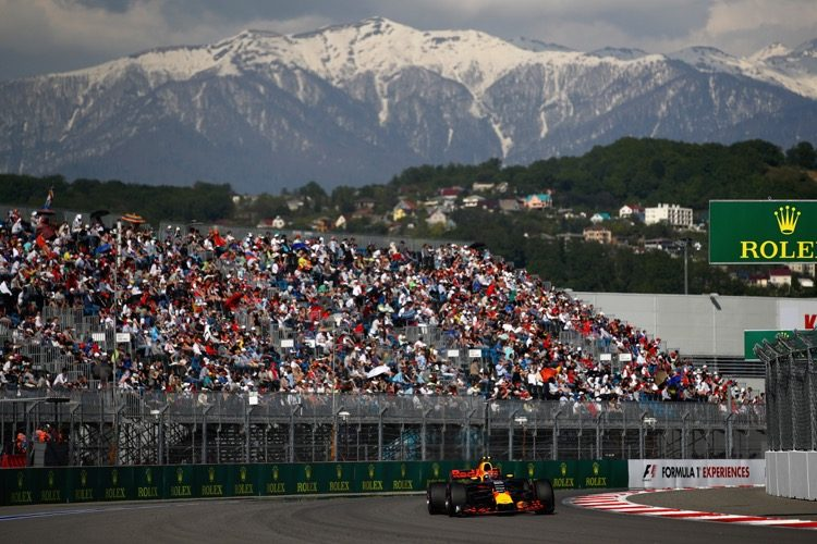 Hoe laat begint de race in Rusland?