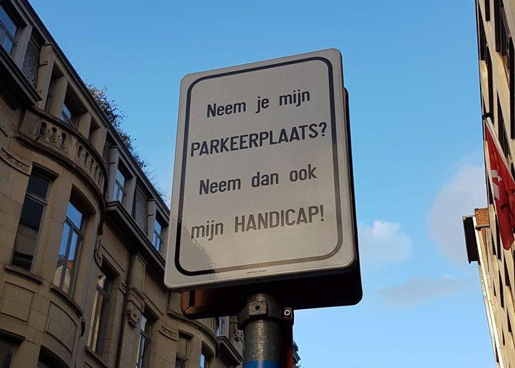 bord-invalidenparkeerplaats