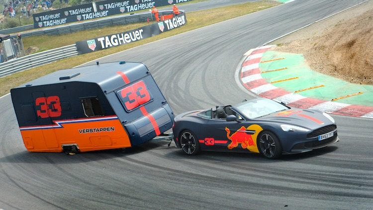 Max Verstappen Red Bull Racing Aston Martin Caravan
