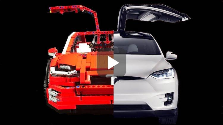 Video: fan maakt Tesla Model X van LEGO
