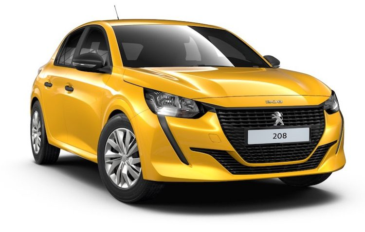 Peugeot 208 geel