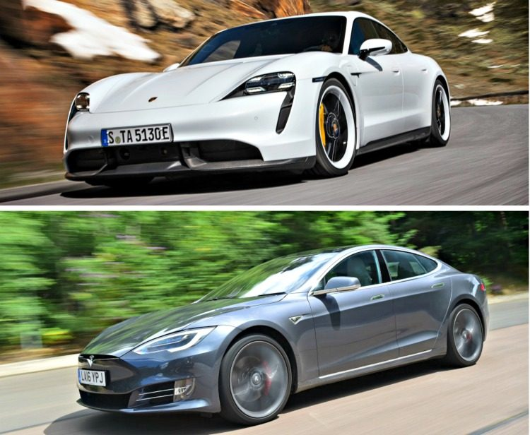 Porsche Taycan Turbo S - Tesla Model S P100D Performance