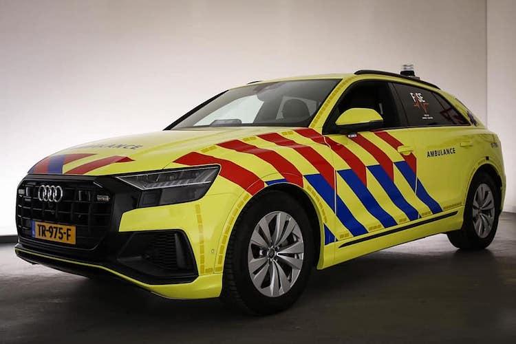 Deze Audi Q8-Ambulance gebruikt men bij speciale ritten