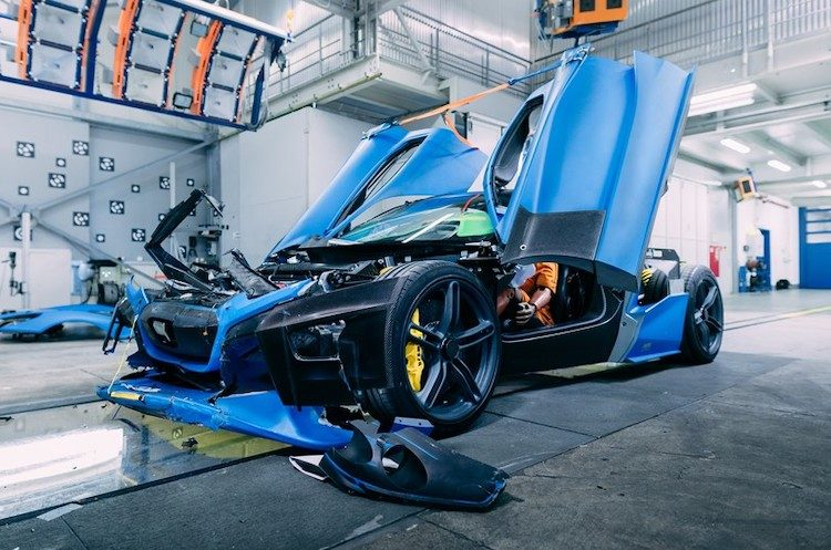 Zó crashtest Rimac de 1.900 pk sterke C_TWO