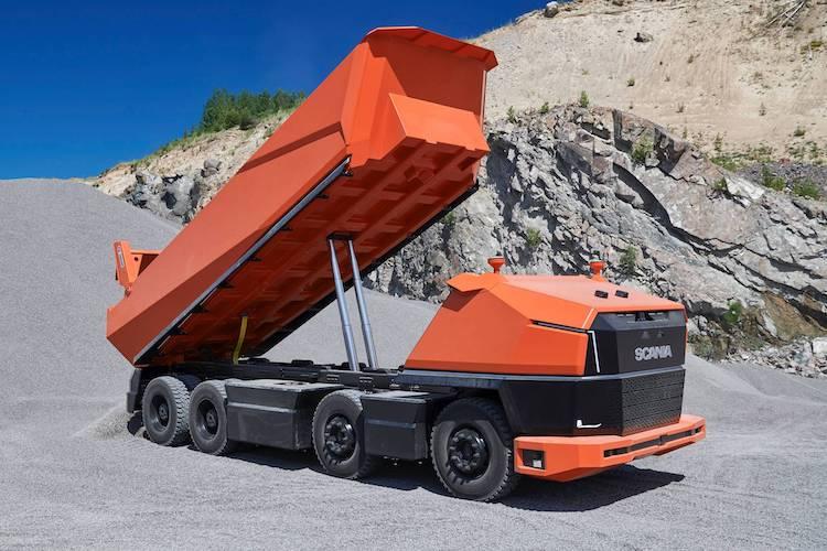 Scania's autonome vrachtwagen is gigantisch groot