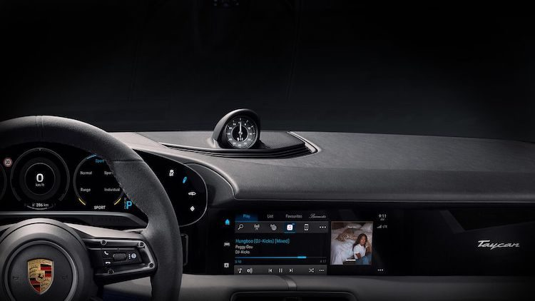 Porsche Taycan is de eerste auto met Apple Music