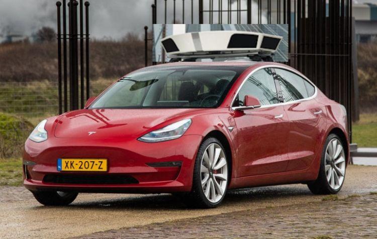 Tesla Model 3 parkeerauto