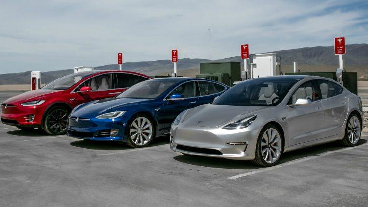 Tesla Model X, Model S & Model 3