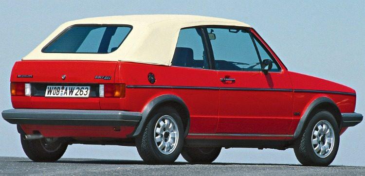 Volkswagen Golf GLI Cabriolet (Typ 155) '80